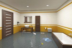 Inondation dans un appartement